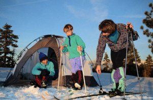 camping in winter