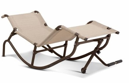 foot propelled rocking outdoor lounger 01