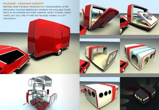 the foldoub caravan concept