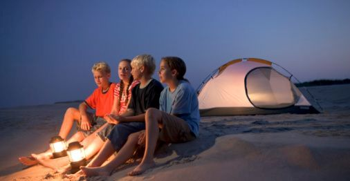 beach tent camping