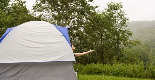 tent c&ing in rain & Tips for Tent Camping in the Rain - Camping Tourist