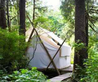 Camping Shelters Fight Against the Weather