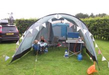 warm and cosy camping tent
