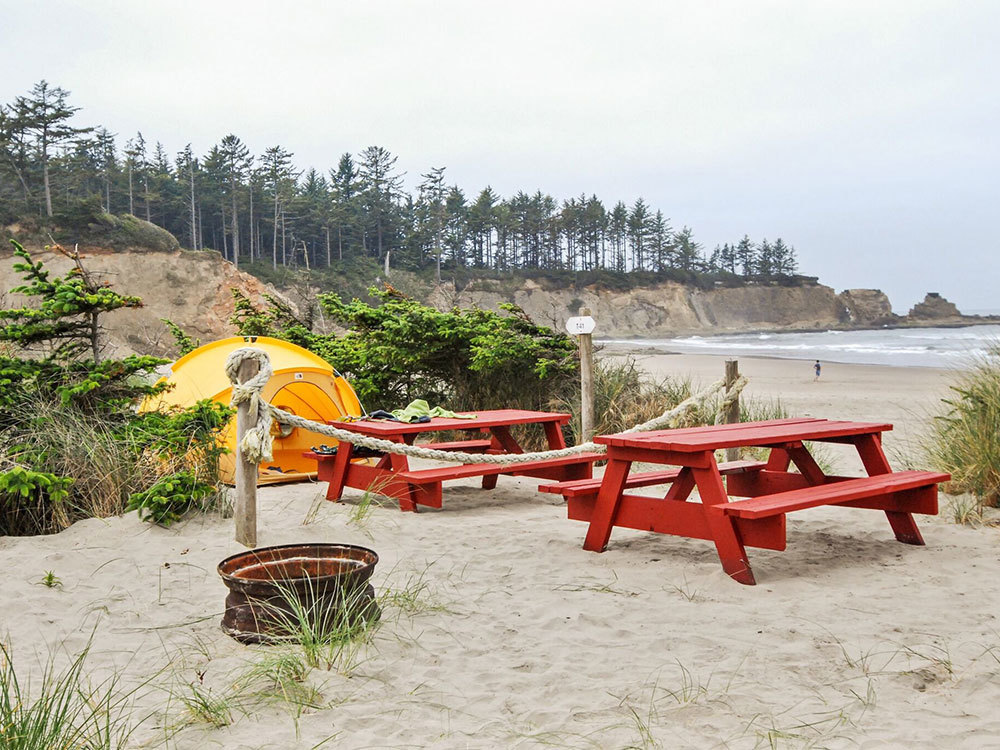 Oceanside Beachfront RV Resort in Oregon