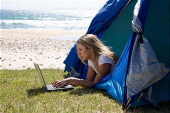 stay in touch while camping